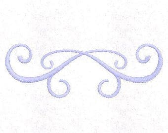 Instant Download - Machine Embroidery Pattern Designs File - Easy Scroll Design - Fits 4x4 Hoop - MULTIPLE FORMATS