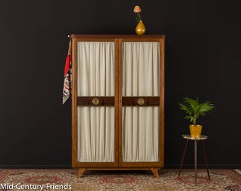 50s wardrobe, chest of drawers, 60s, vintage (704060)