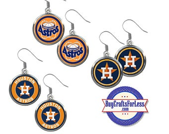 HOUSTON Baseball EARRINGS, CHooSE Logo - Super CUTE!  +FReE SHiPPiNG & Discounts*