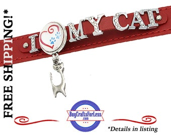 LoVE My CAT Bracelet, Double LEATHER, Very NiCE- Gift box available  +FREE Shipping & Discounts*