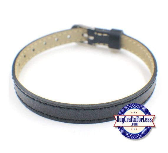 LEATHER BRACELET for 8mm Slider Letters and Slide Charms +FREE Shipping & Discounts*