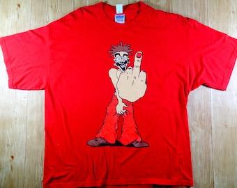 On SALE! Vintage Middle Finger F**K OFF Big Logo Shirt Rare