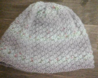 Ladies knitted cloche style hat