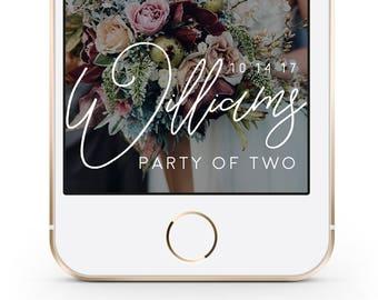 Wedding Snapchat Geofilter, Custom Wedding Snapchat Filter, Engagement Snapchat Filter, Personalized Wedding Geofilter. Snapchat Geofilter