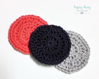 Reusable Cotton Face Scrubbies | Crochet Cotton Scrubbies | Set of 3 | Handmade-100% Cotton | Gift | Housewarming | Body Scrubbies