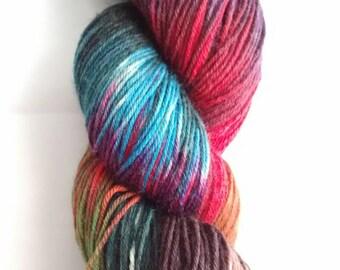 "Hand Dyed ""Sunken Treasure"" available in 4ply, DK, Sock, Merino, Wool and Alpaca."