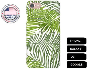 Palm Leaf Phone Case, Phone Case Palm Leaf, Palm Leaf iPhone Case, Tropical Galaxy Case, Galaxy S5 Case, Galaxy S6 Case, Galaxy S7 Case