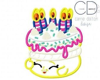 ON SALE Birthday Cake Applique Design, Birthday Cake Embroidery Design, Wishes Applique Design, Wishes Embroidery Design, Shopkins Embroider