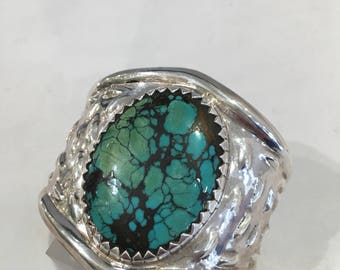 925 Silver and turquoise cuff