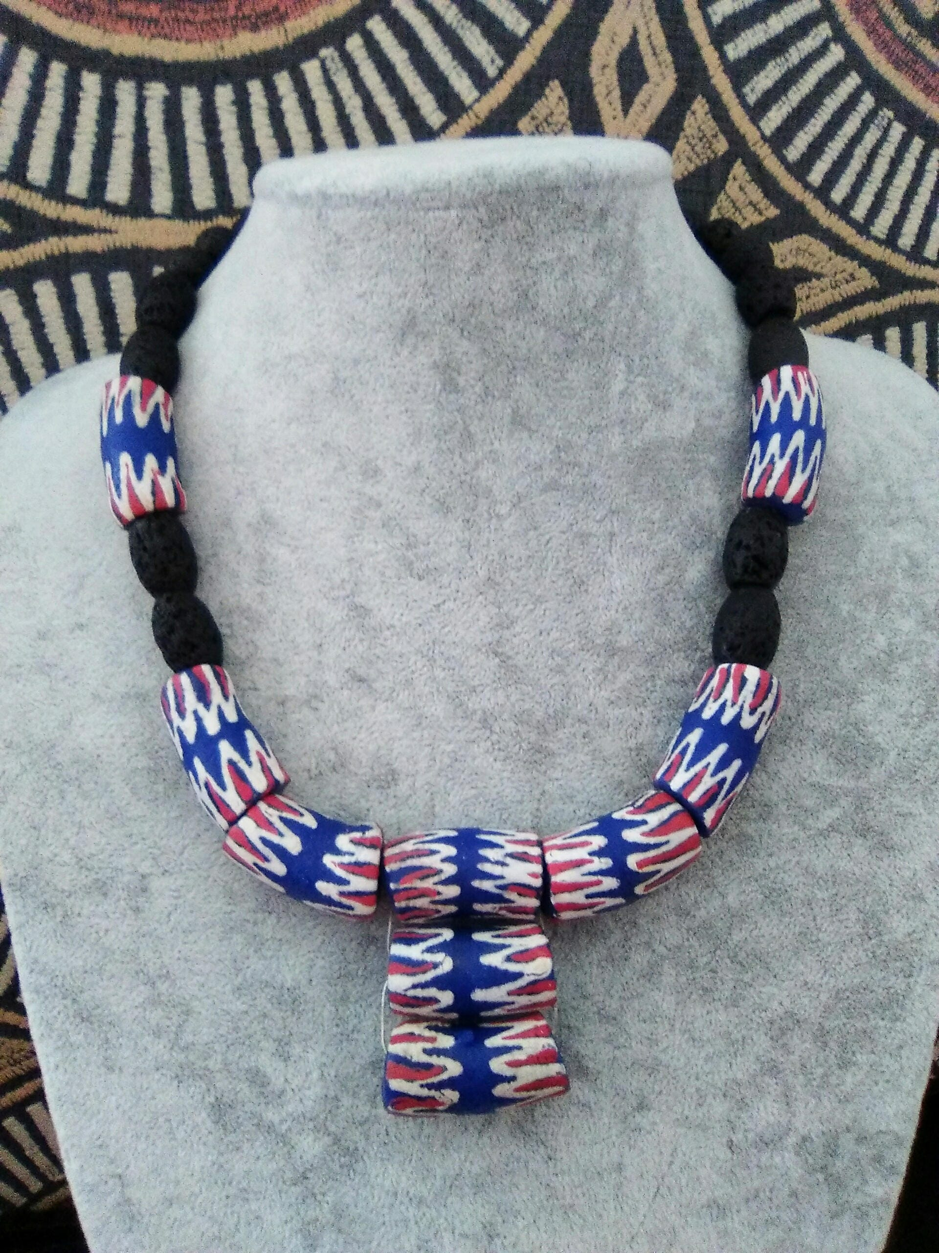 Ethnic Mens Necklace Tribal Bead Choker African Jewelry Men Gift