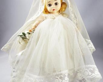"Madame Alexander Little Women Bride Doll 8"" + Original Tags + Metal Stand Collectible  Dolls"