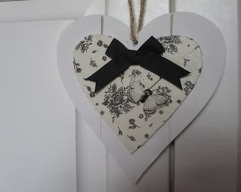 wooden heart hanging shabby chic No. 6