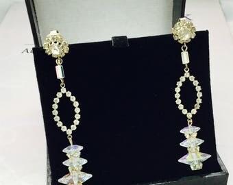 Vintage Crystal and Rhinestone Earrings