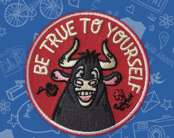 Inspired by Ferdinand the Bull Patch,  perfect for scouts, movie, book, commemorate scout event or activity Active