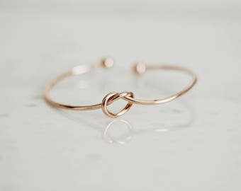 Rose Gold Infinity Bracelet/Bangle