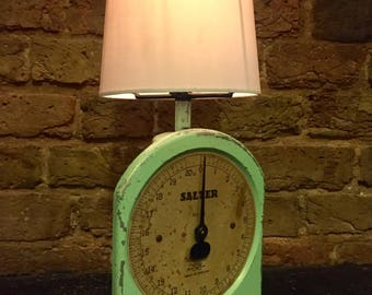 Vintage Salter Scales converted touch sensitive lamp