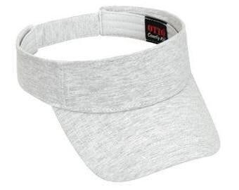 OTTO Comfy Cotton Jersey Knit Sun Visor (Color-Ash)