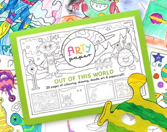 Kids Colouring Folder- Out of this World