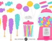 50% OFF SALE! Candy Clip Art, Bubblegum Machine Clipart, Gumball Machine Clip Art - Commercial Use, Instant Download - V2