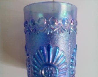 Carnival Glass Tumbler - Shell and Jewel