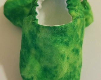 Green Tie Dye Baby Slippers