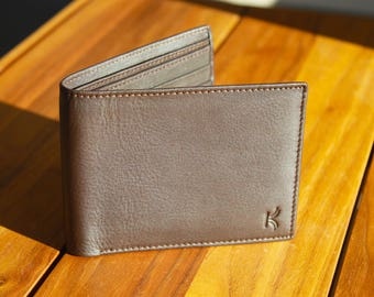 Leather Wallet Slim RFID Blocking Wallets For Mens Wallet Bifold Wallet Leather Wallets Anniversary Gift