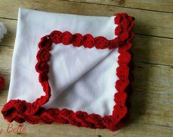 Flannel Baby Blanket, Crochet Baby Blanket, Baby Girl Blanket, Stroller Blanket, Baby Boy Blanket, Receiving Baby Blanket, Christmas Afghan