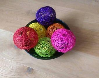 10cms Handmade Abaca Balls Trendy Home Decor - Various Colors
