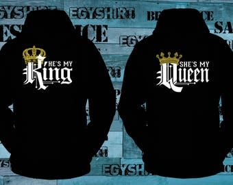 King and Queen Hoodie Couple Great Quality Hoodies Best Price Fast shipping.