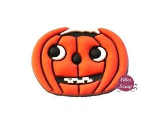 1 pine shoe charm clip type Jibbitz shoe hooks or any other garment decoration Halloween Pumpkin bag