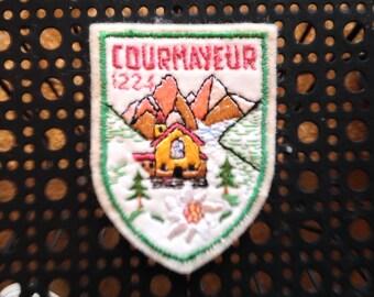 Vintage Ski Patch Courmayeur