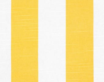 "Two 50""W x 84""L Custom Curtain Panels, Rod Pocket Drapes, Yellow Vertical Stripe"