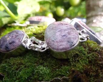 Lepidolite bracelet, stone of release