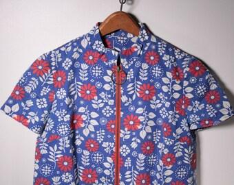 Vintage 70's flower print shift dress