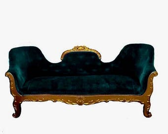 ON SALE Antique victorian Louis XVI settee/sofa custom upholstery option