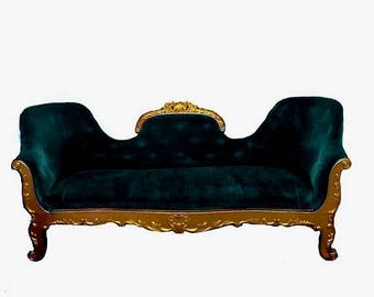 on sale antique victorian louis xvi setteesofa custom upholstery option