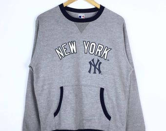 Rare!!! Vintage New York Sweatshirt Pullover Jumper Major League Baseball Sweater Relaxing Wear