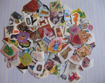 huge lot of 244 mini stickers!!