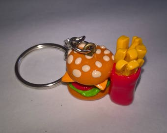 Keychain Burger and fries
