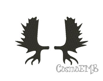 7 Size Moose antlers Silhouette Embroidery design Machine Embroidery - Digital INSTANT DOWNLOAD