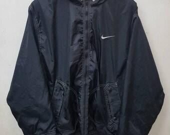 Vintage Nike Swoosh Sport Jacket Sweater Full Zipper Sportswear Large Size