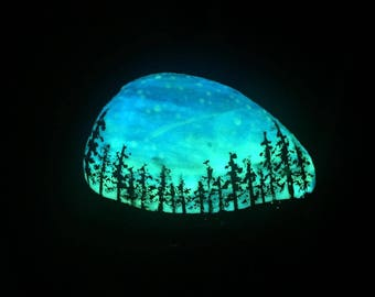 Painted Pebble that can Glow In The Dark