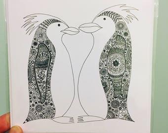 Penguins Card