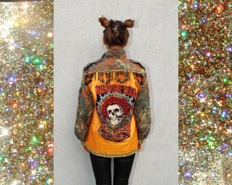 Camouflage Skull Boho Jacket