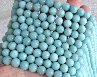8mm Amazonite beads, full strand, amazonite gemstone, aqua beads, genuine amazonite, 8mm gemstone beads, aqua amazonite