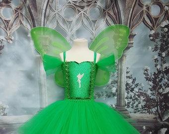 Tinkerbell fairy style tutu dress