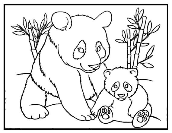 panda bear face coloring pages - photo#23