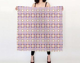 Modern Art Gallery Square Silk Scarf