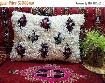 Beni Ourain Pillow handmade Moroccan cushion pillow covers 100% wool