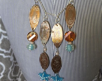 Jellyfish Penny Necklace
